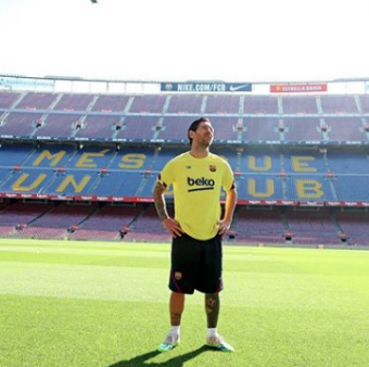 Leo Messi no Camp Nou