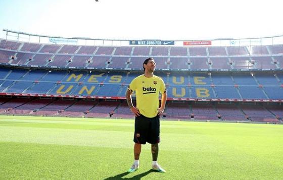 Leo Messi no Camp Nou