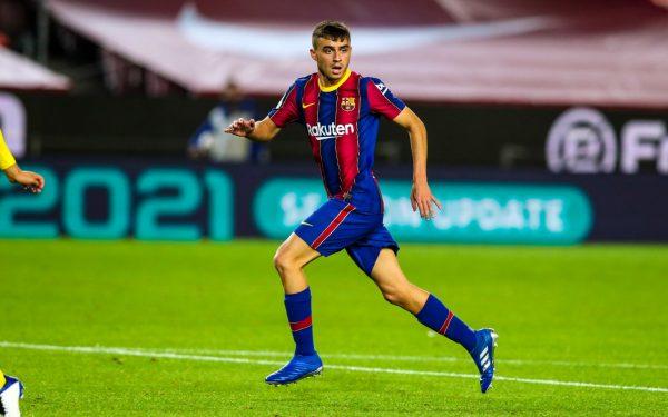 Pedri em ação no Camp Nou, pela Liga Espanhola / FCB