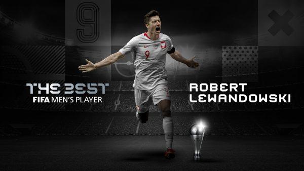 O atacante polonês Robert Lewandowski foi eleito o melhor jogador do mundo na temporada 2019/20 pela FIFA.
