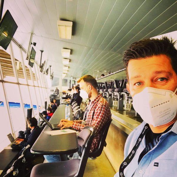 O editor do LDSportNews, Lucas Duarte, na sala de imprensa do Camp Nou / LDSportNews