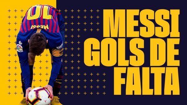 Messi, o mago das faltas / @Twitter: @FCBarcelona_br