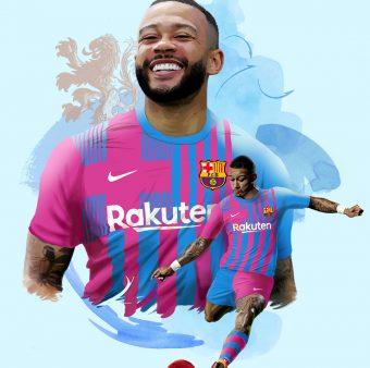 Depay, novo jogador do Barça. / Twitter: @FCBarcelona_br