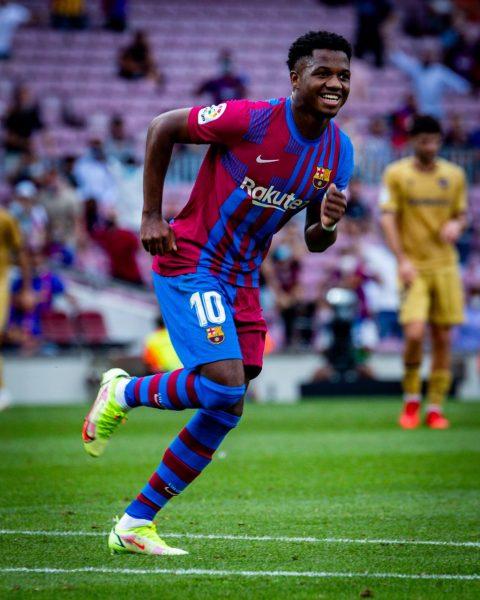 Ansu Fati regressa com gol no Camp Nou / Twitter: @FCBarcelona_br