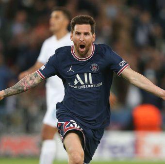 Messi comemora seu primeiro gol com a camisa do PSG / Instagram: @LeoMessi